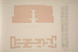 Temple E. Ground plan, See Pages 47 & 48. House g, Plate 67, ground plan. See Page 48. Inscription on west side of Stela A. See Plate 82 a & b, and Page 49.