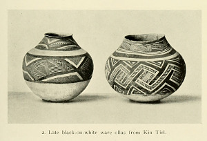 Late black-on-white ware ollas from Kin Tiel.
