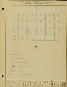 Pulse amplifier block diagram. PX-4-301
