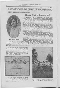 Canning work of Tennessee Girl