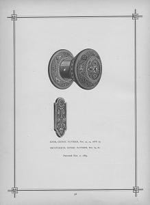 Knob, Gothic Pattern, Nos. 73, 74 and 75. Escutcheon, Gothic Pattern, Nos. 83, & c.