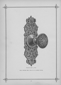 Real Bronze Bell Pull, No. 22 Convex Knob.