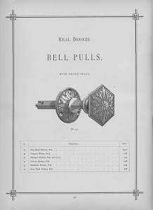 Real Bronze Bell Pulls. With Round Plate.