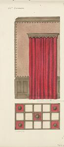 Collection de Tentures. Trois décors d'antichambres et plafonds