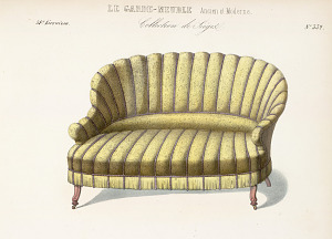 Causeuse, chaise.