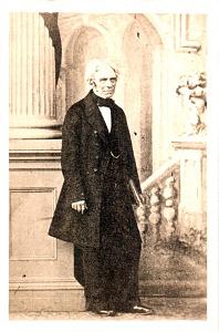 Portrait of Michael Faraday.