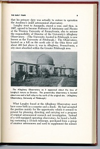 The Allegheny Observatory as it appeared about the time of Langley's tenure as Director. The present-day observatory is located about one and a half miles to the north of the original site.
