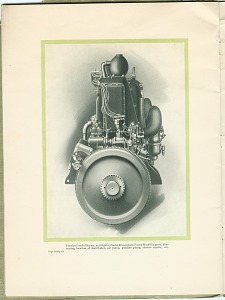 Flywheel end of the six- and eight-cylinder Duesenberg Patrol Model Engines
