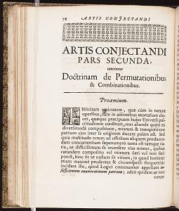 Artis conjectandi pars secunda