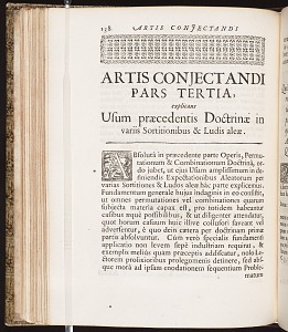 Artis conjectandi pars tertia