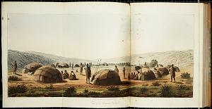 View of a Bushman Kraal