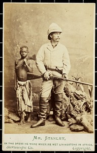 Carte de visite: Mr. Stanley, in the dress he wore when he met Livingstone in Africa