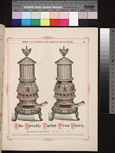 The novelty parlor oven stove