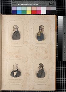 Bustamante (Cs. Mia.), Historiador; Gral Calderon (Je. Mia.); Gonzalez Angulo (Berno.), Auditor de Guerra; Cavaleri, Intendte. de Marina