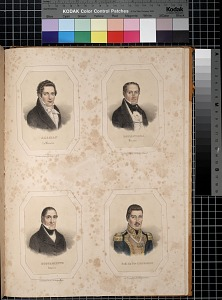 Alaman, Ex Ministro; Bocanegra, Ministro; Bustamente, Botanico; Gral de Div Canalizo