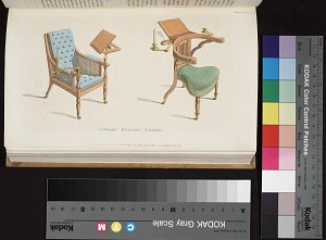 Plate opp. p. 182, plate 15, Library reading chairs