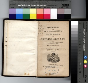 Typographia, or, The printer's instructor : a brief sketch of the origin, rise, and progress of the typographic art