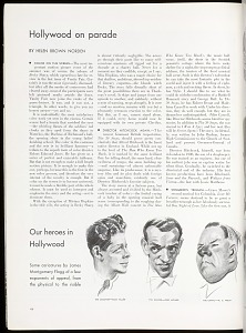 Some caricatures by James Montomery Flagg of a few exponents of appeal, from the physical to the risible. The Crooner — Rudy Vallee, The Dancer — Fred Astaire, The Comic — W. C. Fields.