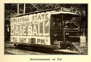 Advertisement on car.