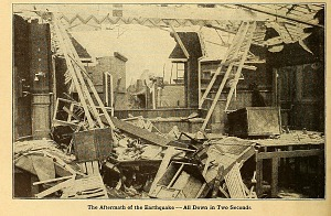 The aftermath of the earthquake.