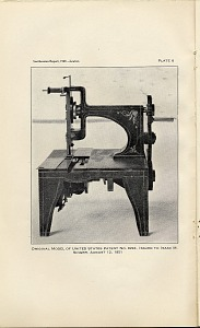 Plate 6: Original model of U.S. Patent No. 8294, issued to Isaac M. Singer, August 12, 1851