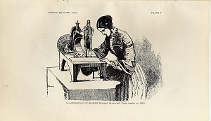Plate 7: Illustration of Singer Sewing Machine published in 1853