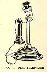 Desk telephone.