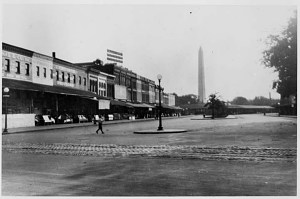 Wholesalers near Center Market on Louisiana Avenue at 9th Street, N.W., about 1900