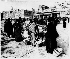 Street vendor on Pennsylvania Avenue, N.W., near Center Market