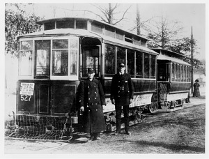 Motorman and conductor of a Capital Traction Company streetcar