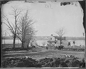 Mathew Brady photograph of Navy Yard Bridge, 1862