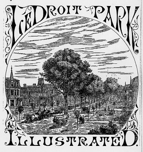Street scene created to promote Le Droit Park, 1877