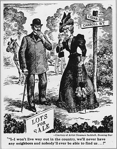 Cartoon from the Evening Star newspaper, 1880s