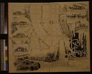 Chevy Chase promotional plat map, Thos. J. Fisher & Co., 1892