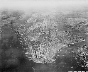 The island of Manhattan, March 9, 1927