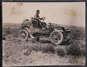 H. Nelson Jackson at the wheel of his Winton
