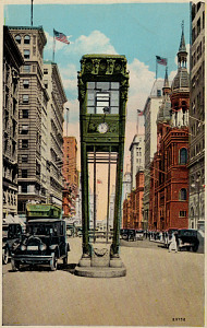 Traffic Tower, New York, 1920s