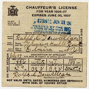 Automobile registration certificates, New Hampshire, 1931