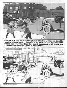 """""""Beware Little Children,"""" sheet music, 1925"""