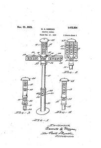 Garrett Morgan traffic signal patent, 1923