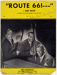 "Sheet music for ""Route 66,"""