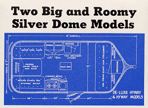 Silver Dome trailer catalog, 1937