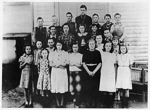 Students at the Martinsburg School, 1941