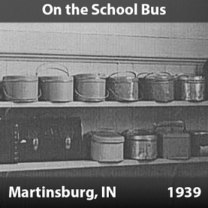 On the School Bus - Martinsburg, Indiana, 1939