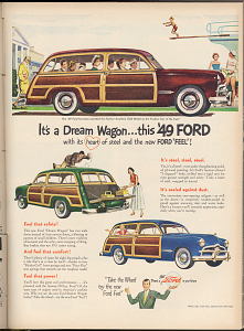 Ford Station wagon advertisement, 1949