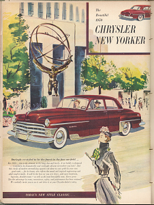 ChryslerNew Yorker advertisement, 1949