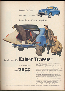 Kaiser Traveler advertisement, 1949