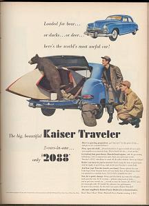 Kaiser Traveler advertisement, 1949