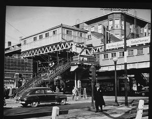 Stoney Island L terminal, East 63rd Street line, Woodlawn neighborhood, 1949