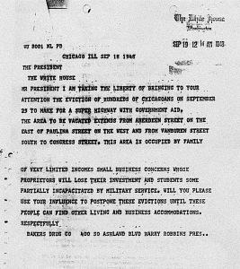 Telegram from Chicago businessman to the president, September 19, 1948